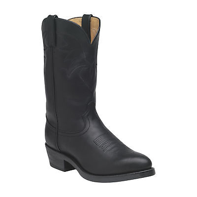 Durango 11in. Oiled Leather Western Cowboy Boot - Black, Size 11.5W,Model#TR760