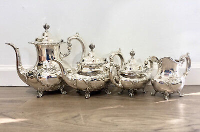 Burgundy by Reed & Barton 4 Piece Sterling Silver Tea Set #745