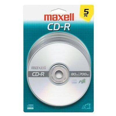 Maxell 40x Cd-r Media - 700mb - 120mm Standard - 5 Pack Jewel Case (maxell