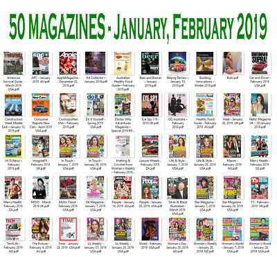 50 Magazines - January, February 2019 - Digital PDF
