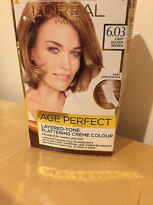 L'Oreal Excellence Age Perfect 6.03 Light Golden Brown Hair Dye