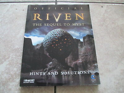 Brady Games Official Riven The Sequel To Myst Hints and Solutions Paperback Book