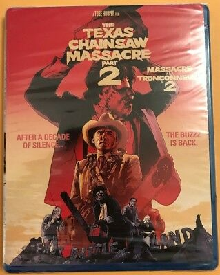 The Texas Chainsaw Massacre 2 (Blu-ray Disc, 1986/2012) Brand new Sealed
