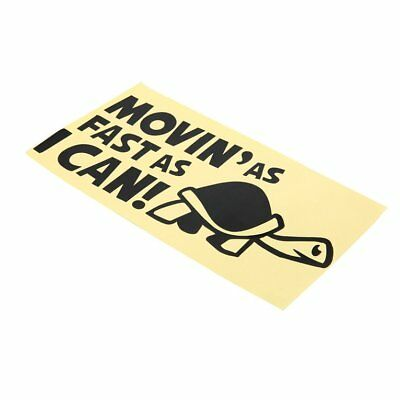 "Funny MOVING ""AS FAST AS I CAN"" Graphics Car Sticker Vinyl Bumper DecalsPG"