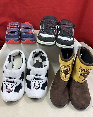 4 X Pairs Kids Shoes Hawks Holland Adidas Various Sizes Boys Shoe Boots Soft