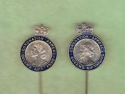 #bb3. Two Varieties Of Queen Elizabeth Ii Coronation Pins