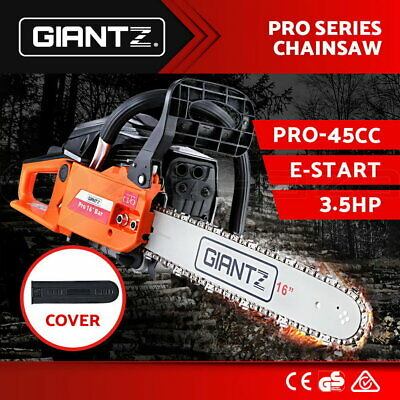 GIANTZ 45cc Commercial Petrol Chainsaw E-Start Chain Saw Tree Pruning