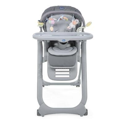 Chicco Polly Magic Relax Highchair 4Wheel (Graphite) From Birth - RRP £139