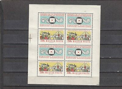 Hungary - Sg1570 Mnh 1959 Transport - Stagecoach - Sheetlet