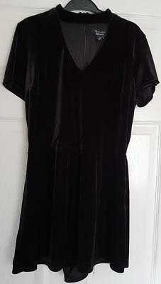 Gorgeous Girls Black Velour Party Dress  14 Years, 154 Cm  New Look, 915