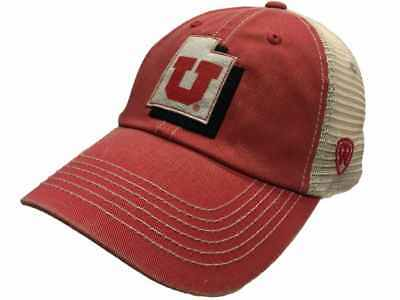 Utah Utes Top of the World Red Beige United Mesh Adjustable Snapback Hat Cap fa6a0c02e828