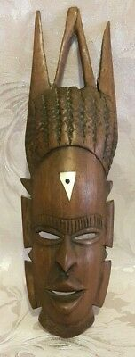 Vintage, African, Carved Wood, Wall Mask