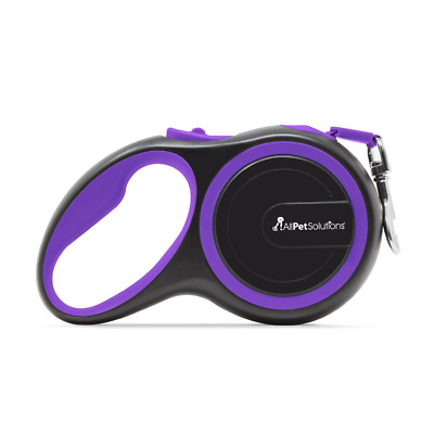 All Pet Solutions Retractable Dog Lead Extending Leash 50 Kg Large Purple