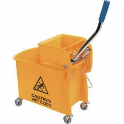 Yellow Mop Bucket and Wringer 17ltr