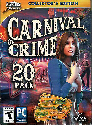 CARNIVAL OF CRIME Collector Ed Hidden Object 20 GAME PACK Viva Media PC Game NEW