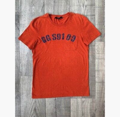 90ab26bda24 Gucci T-Shirt Homme Man S Orange Coton Cotton Authentique