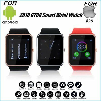 Bluetooth Smart Watch GT08 Touch Screen Phone Mate for Android iPhone IOS Lot YK