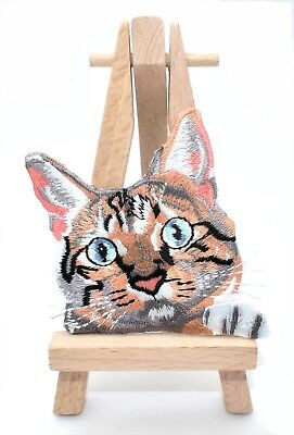 Ecusson brodé chat, patch thermocollant, embroidered iron on  sweet cat