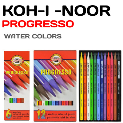 KOH I NOOR ANILINKY Water Colours Woodless Pencils (Pack of 12) Drawing Art