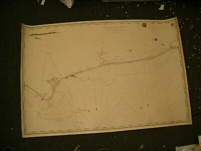 Vintage Admiralty Chart Ref 01 - THE SOUTH COAST OF ENGLAND 1810 edition