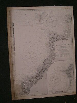 Vintage Admiralty Chart 1178 UK - TREVOSE HEAD to BULL POINT 1920 edition