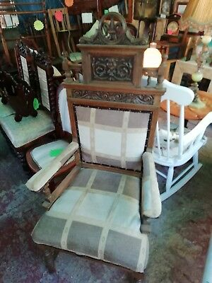 Late 19th Early 20th Century Throne Chair
