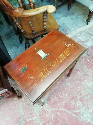 Vintage sewing box table