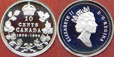 Low mintage ✪ 1908-1998 Proof Silver 5 Cents Only 16,376