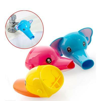 Cute Cartoon Bathroom Sink Faucet Extender For Children Kid Washing Hand