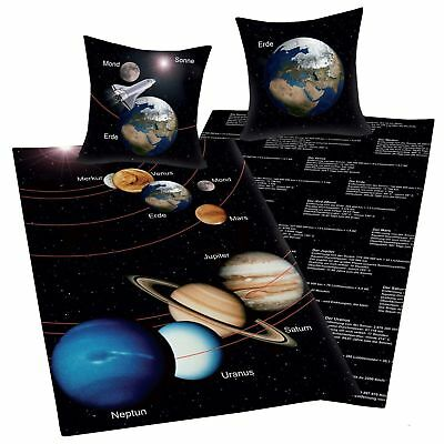 Planets Space Solar System Duvet Cover New In German