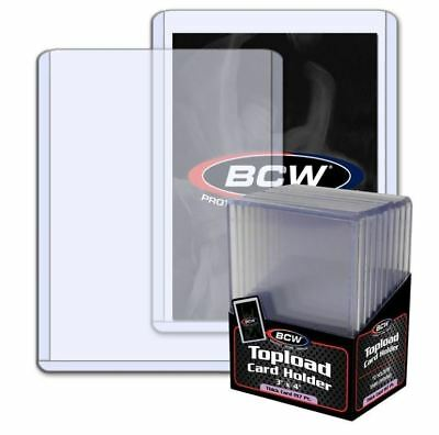 (Pack Of 10) BCW Carga Superior Tarjetero 197pt 5mm Extra Grueso Parches Jersey