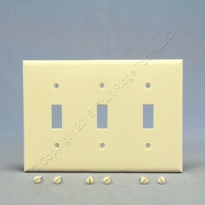 Cooper Lt Almond Unbreakable 3-Gang Switch Cover Wallplate Switchplate 5141LA
