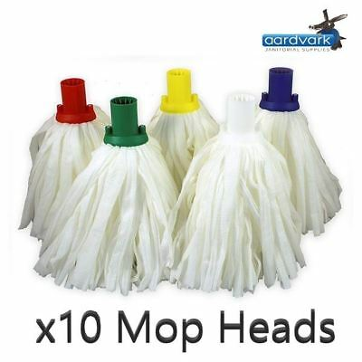 White Standard Exel Fit Self Tap-in Big White Mop Heads 10 Pack