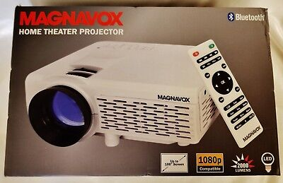 """NEW Magnavox Bluetooth Home Theater Projector 100"""" 2000 Lumens 1080p MP601"""