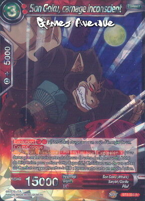 Dragon Ball Super Card Game ! Son Goku, Carnage Inconscient BT5-003 RARE/VF