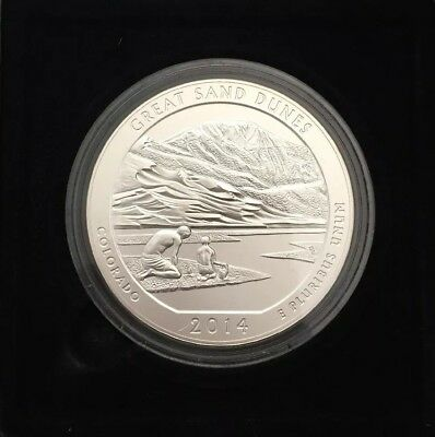 2014-P 5 oz Great Sand Dunes America the Beautiful Five Ounce Silver Quarter