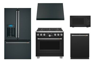 GE CAFÉ MATTE Black Kitchen Package with $1,000 Mail in ...