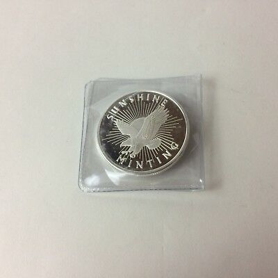 Sunshine Mint 999 1/2 oz Fine Silver Round .999 One Troy Ounce Coin in Sleeve