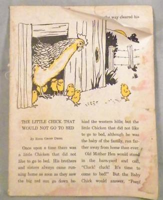 Child's Vintage Book Burgess Bedtime Stories Chick That Would Not Go To Bed AsIs