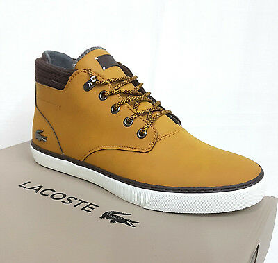 Sneakers Marron Esparre Lacoste High Homme Neuf Top Cuir Chaussures C318 2YHWE9ID