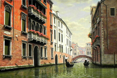 HD Art Print Italy Venice Scenery Oil painting Giclee Printed on canvas P877
