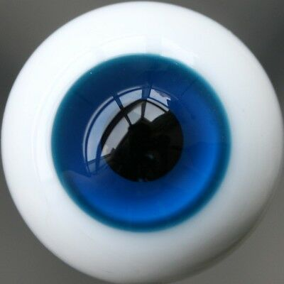 High Quality 8MM Blue/&black Glass BJD Eyes Outfit for Ball Joint Doll Dollfie