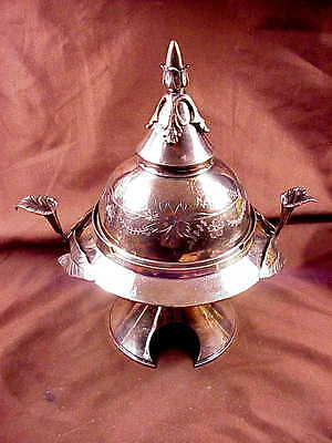 Meriden Britannia Co.  Domed And Ornate Silver Plate Covered Butter, 1880