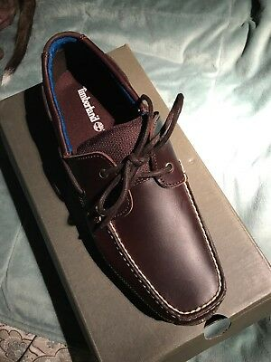 a96117eed5 Timberland Mens Piper Cove FG Leather Boat Shoe, Brown, Size 11 NEW IN BOX