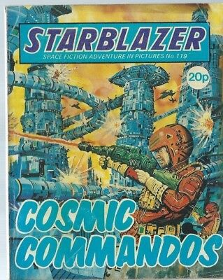 Cosmic Commandos,starblazer Space Fiction Adventure In Pictures,comic,no.119