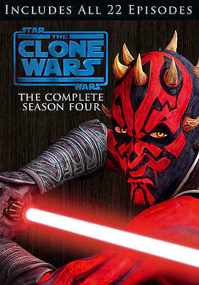Star Wars: The Clone Wars - The Complete Season Four (DVD, 2012, 4-Disc Set)MINT
