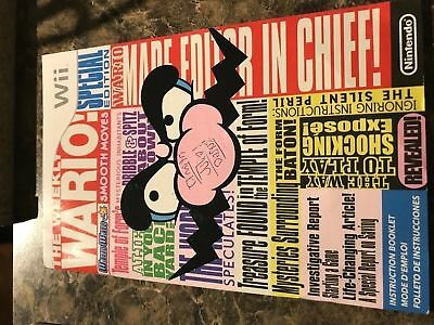 Wario Ware Smooth Moves - Nintendo Wii - Instruction Manual Only