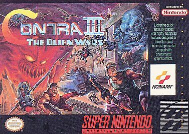 Contra III: The Alien Wars (Super Nintendo Entertainment System, 1992) CART ONLY
