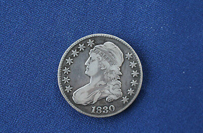 1830 Capped Bust Silver Half Dollar Great Type Coin M1077