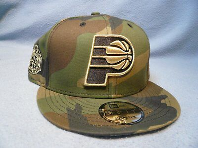 ceb1a28a585 New Era 9Fifty Indiana Pacers Camo Metallic Snapback BRAND NEW hat cap NBA
